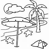 Coloring Pages Beach Tropical Island Printable Hawaiian Islands Sunset Print Drawing Vacation Lovely Simple Happy Holiday Beaches Clipart Colornimbus Under sketch template
