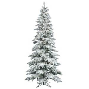 9 foot slim flocked utica fir tree all lit lights a895081 vickerman