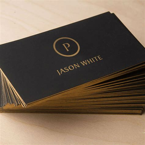customized business card black gold high quality