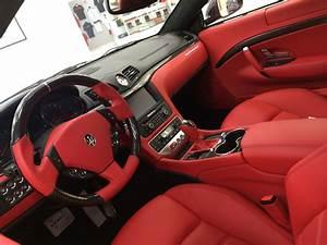 White maserati granturismo red interior google search for White maserati red interior