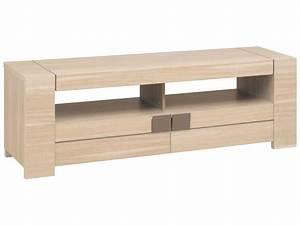 Meuble Tv Chene Clair : meuble tv 182 cm atlanta coloris ch ne clair vente de meuble tv conforama ~ Teatrodelosmanantiales.com Idées de Décoration