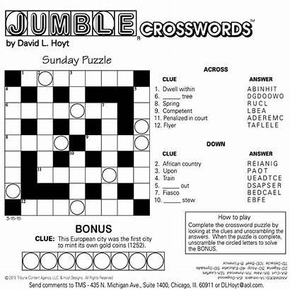 Jumble Puzzles Printable Answers Sunday Crosswords Tribune