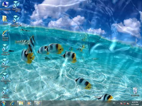 Animated Wallpaper Themes - screenshot review downloads of shareware watery desktop 3d