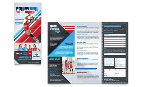 volleyball camp brochure template design