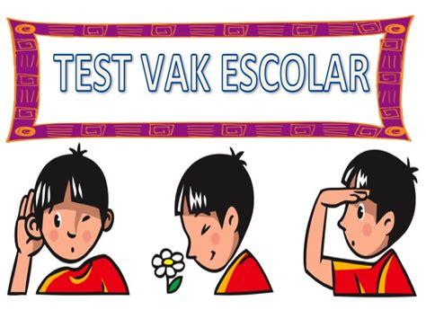 Test de estilos de aprendizaje de VAK ESCOLAR Infantil
