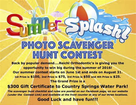 Photo Contest Flyer Template by Contests Reichl Orthodontics Waukesha Hartland