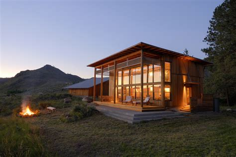 modern cabin rustic exterior seattle  johnston architects