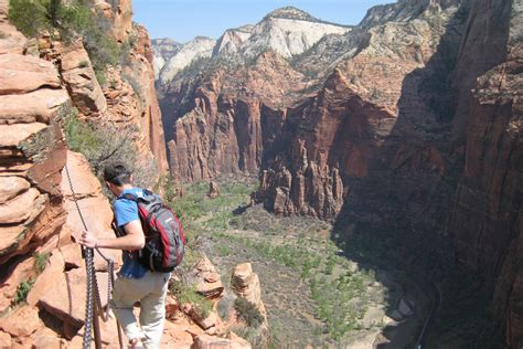 zion national park landing angels hike trail hikes hiking guide listings