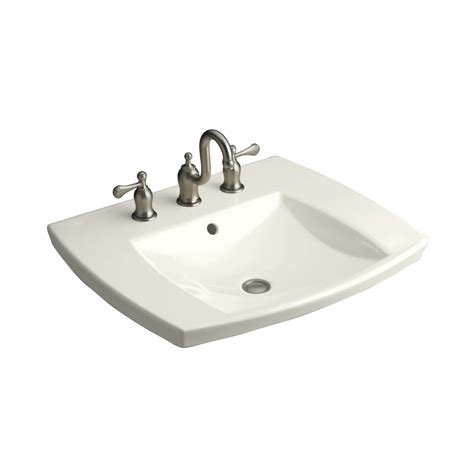 drop in bathroom sinks rectangular shop kohler kelston biscuit drop in rectangular bathroom