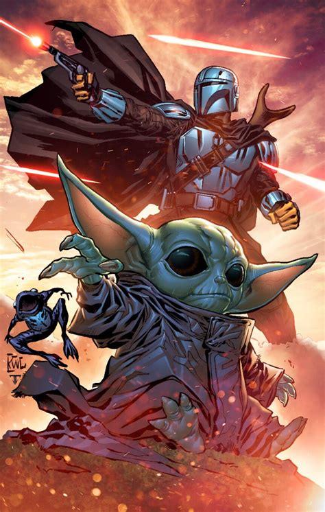 The Mandalorian and Baby Yoda by Ken Lashley ...