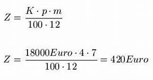 Jahreszins Berechnen Formel : zinsrechnung jahreszins b rozubeh r ~ Themetempest.com Abrechnung