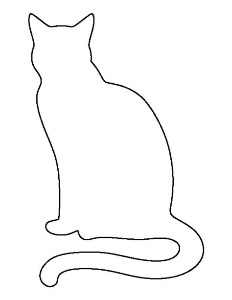 Cat Template Sitting Cat Pattern Use The Printable Outline For Crafts