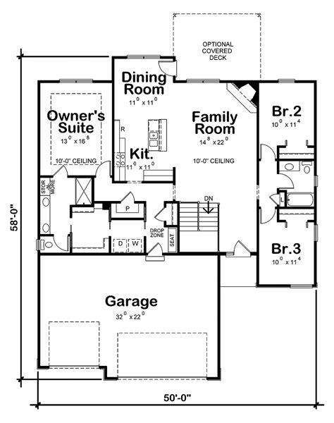 House Plan 80436 Modern Traditional House Plan with
