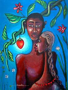 Adam And Eve Painting by Omenihu Amachi