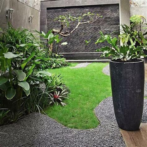 model taman belakang rumah minimalis lahan sempit taman