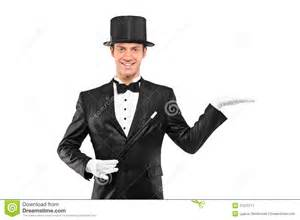 Holding Top Hat Magician