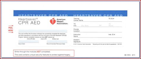 aha cpr card template template  resume examples