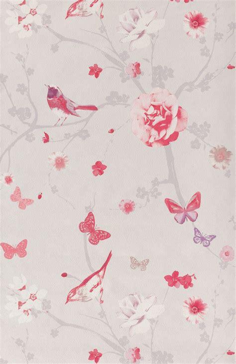 papier peint branche oiseau ros papier peint floral
