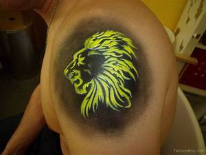 Colored Lion Head Tattoo | Tattoo Designs, Tattoo Pictures