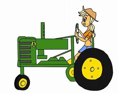 Tractor Deere John Cartoon Clip Clipart Driving