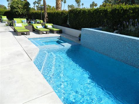 palm springs pool and spa remodel painted tile