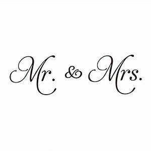 New Couple Mr & Mrs DIY Wall Stickers Vinyl Wall Decal