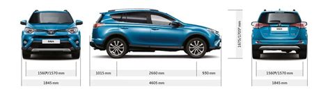 Rav 4 Length by Toyota Rav4 And Hybrid Sizes And Dimensions Guide Carwow