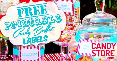 customizable candy buffet labels candystorecom
