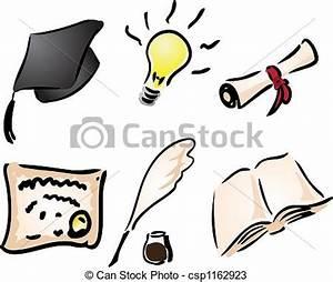 Dibujos de educación, aprendizaje Education, y, aprendizaje, iconos, csp1162923 Buscar