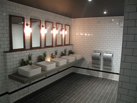 industrial bathroom design cool industrial toilet design with stylish subway tiles