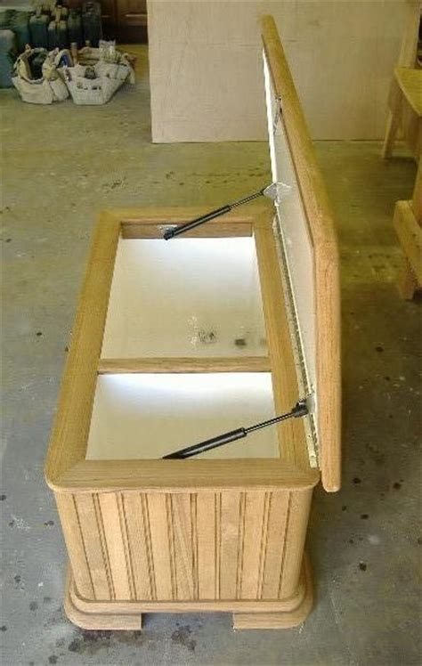 custom  teak ice chest  bohnhoff woodworking