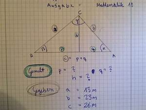 Höhe Berechnen Dreieck : dreieck cosinussatz berechne die gesuchten teile des ~ Themetempest.com Abrechnung