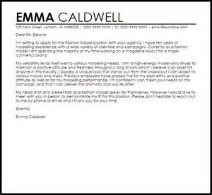 fashion resume cover letter fashion model cover letter sle livecareer