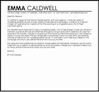 Cover Letter Template For Agency Fashion Model Cover Letter Sample LiveCareer