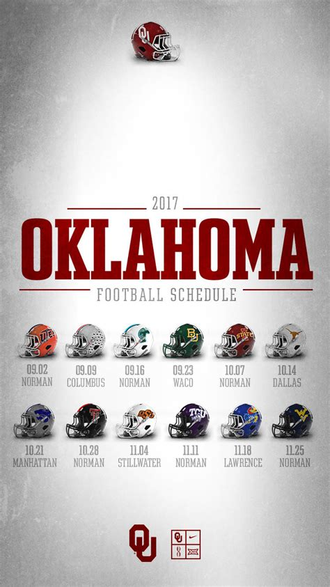 ous  big  football schedule announced university