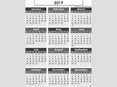 2019 Calendar Templates And Images swifteus
