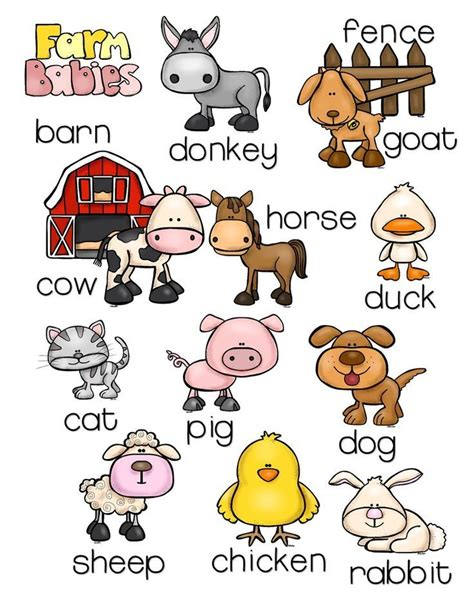 farm animals pack with montessori inspired activities 604 | bbfe36e00be0a9bfbdb57ad3fd1ee6b8