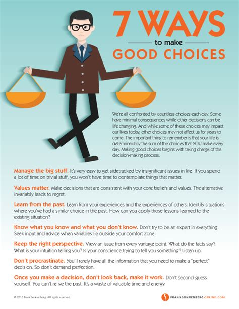 7 Ways To Make Good Choices