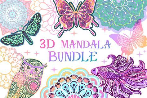 3d alphabet layered mandala svg bundle 26 letters 529537 cut. 3D Mandala Alphabet Svg Free - Layered SVG Cut File