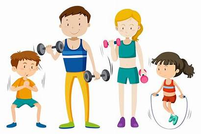 Workout Exercise Clipart Together Vector Vackground Vectors