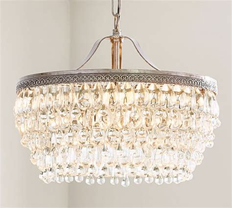 drop chandeliers clarissa drop chandelier pottery barn