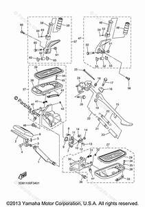 Yamaha Motorcycle 2007 Oem Parts Diagram For Stand