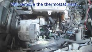Vw A3  2 0l Aba Upper Rad Hose  U0026 Thermostat Removal