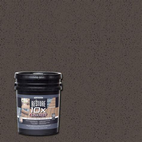 rust oleum restore 4 gal 10x advanced timberline deck and