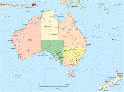 australia   zealand political map