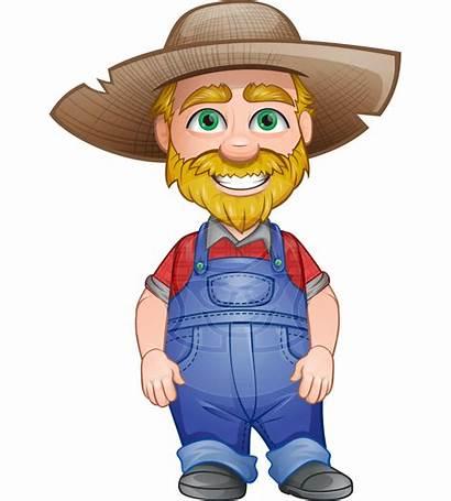 Farmer Cartoon Clipart Vector Cartoons Farm Character