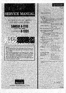 Sansui A1001 1110 Sm Service Manual Download  Schematics