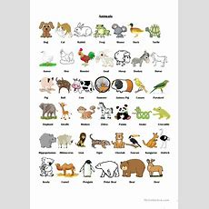 Animals Pictionary Worksheet  Free Esl Printable Worksheets Made By Teachers