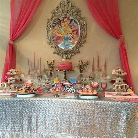 dessert table   disney princess birthday party