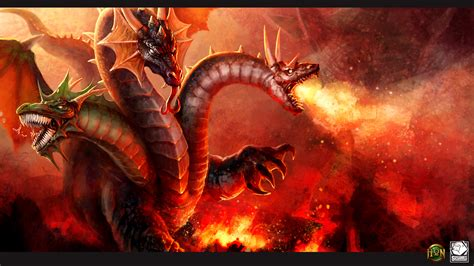 papeis de parede  heroes  newerth dragoes fogo